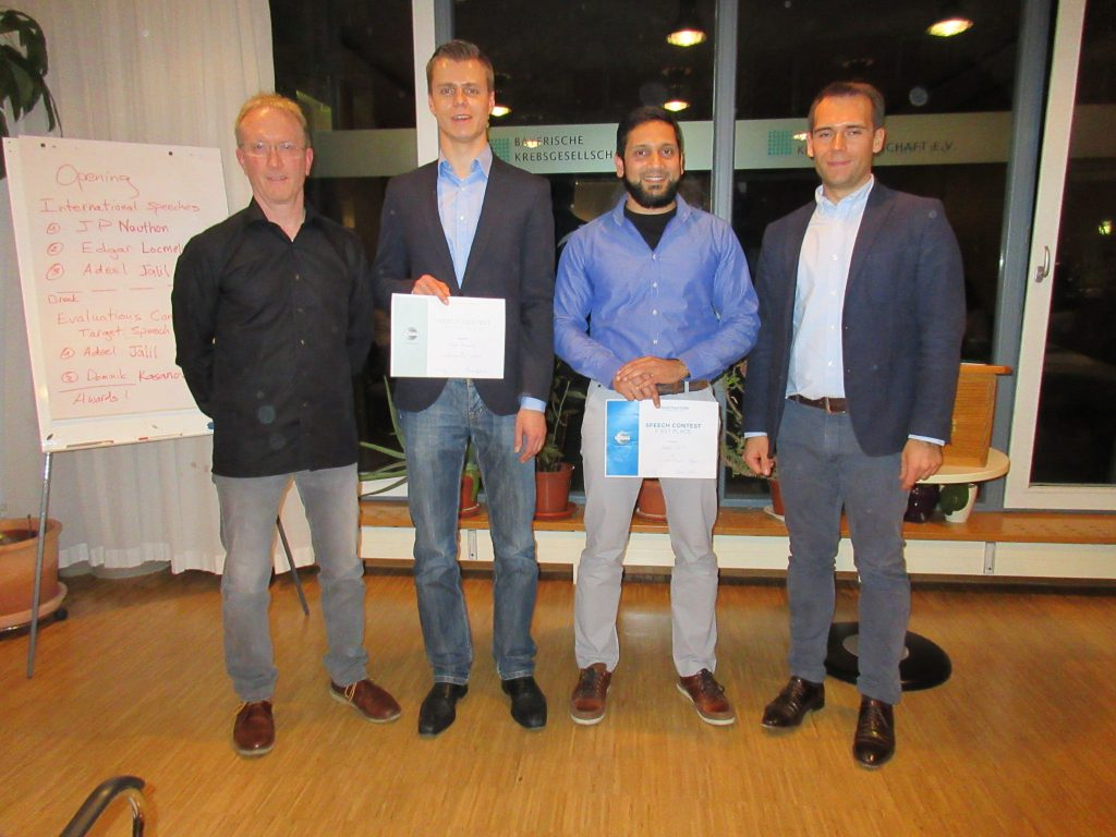 Winners Club Competition Munich Toastmasters International Speech March 2017